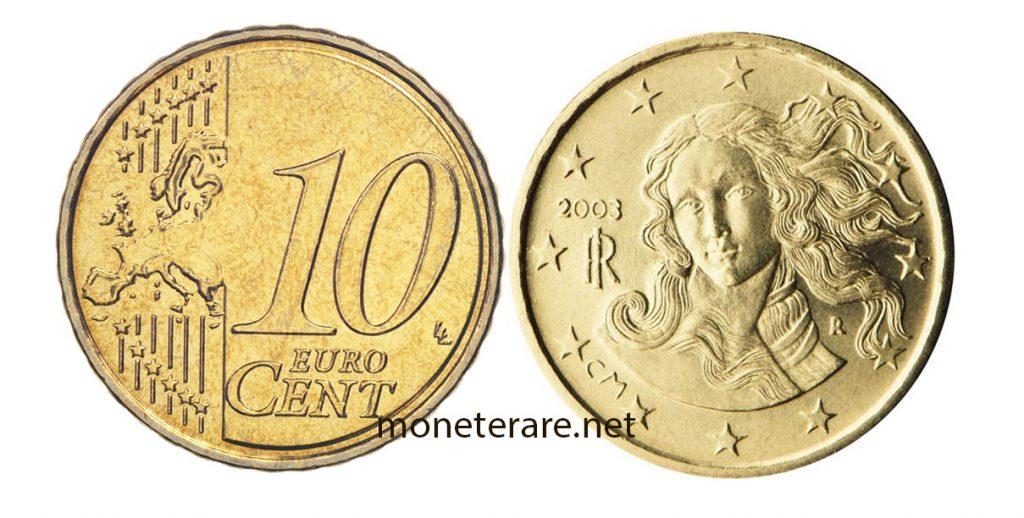 10 Centesimi di euro rari: 10 Centesimi Euro Botticelli