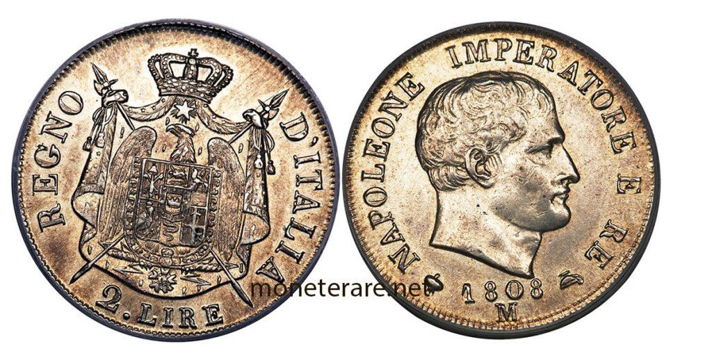 2 Lire Napoleone Imperatore 1808