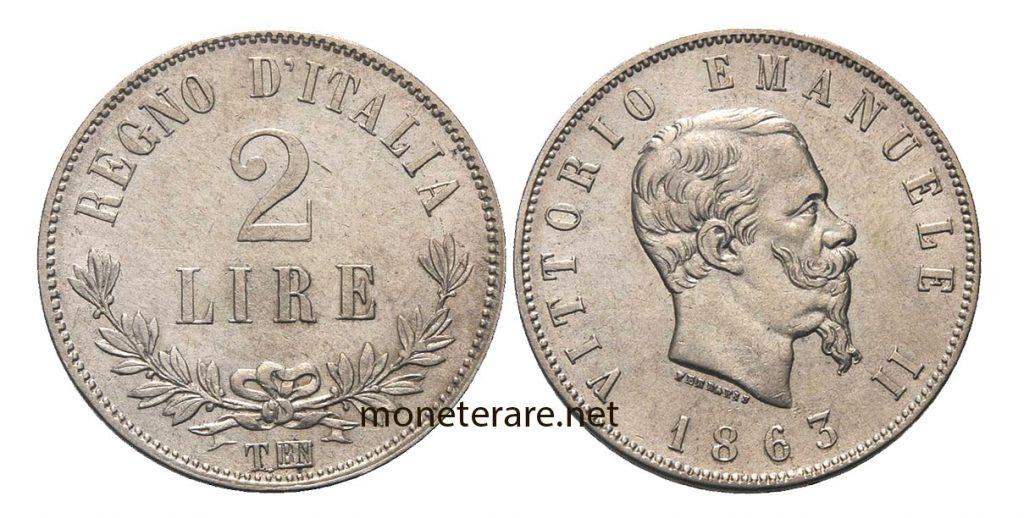 2 Lire Vittorio Emanuele II