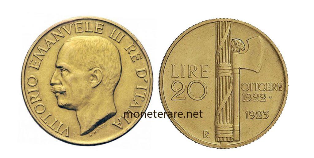 Marengo Vittorio Emanuele III Fascio - 20 lire oro
