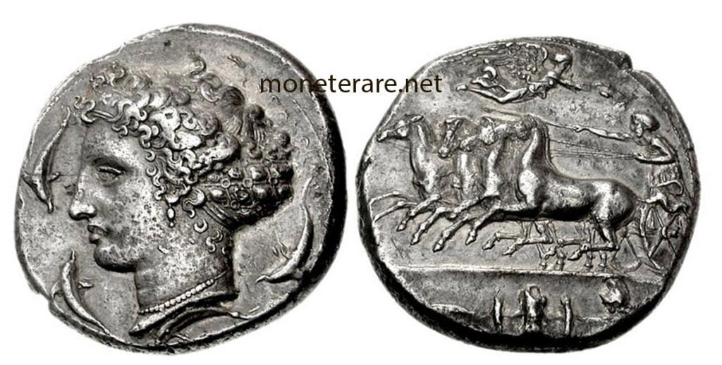 greek coins ancient Greek Coin Syracuse Decagrams - Classic Period