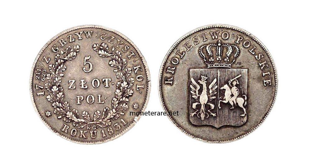 Polonia Moneta Zloty 1831