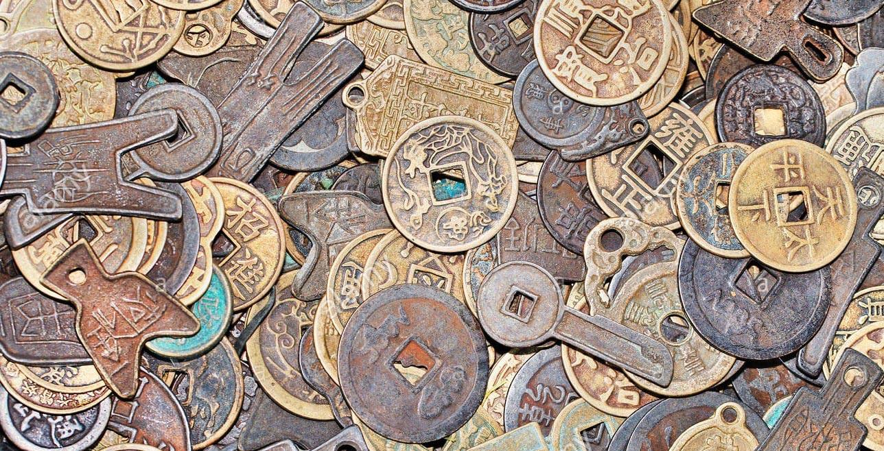Alcune monete cinesi hanno forme veramente varie.