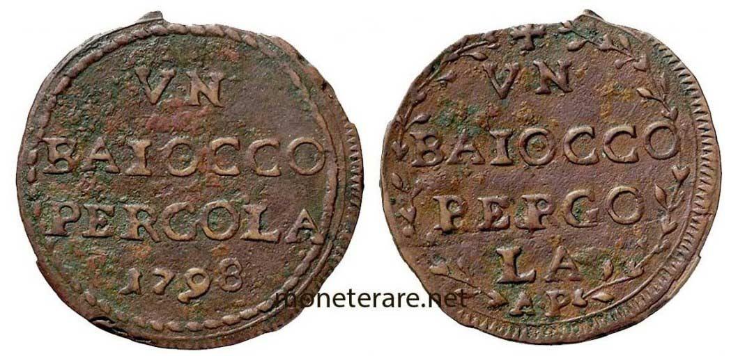 Baiocco Pergola 1798 Raro
