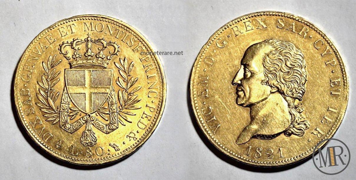 80 Lire Vittorio Emanuele I