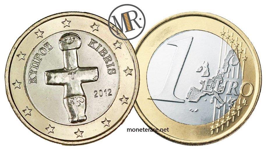 moneta da 1 euro di cipro con la croce