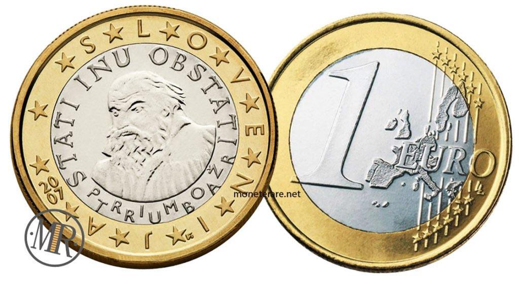 1 euro Slovenian Euro coins
