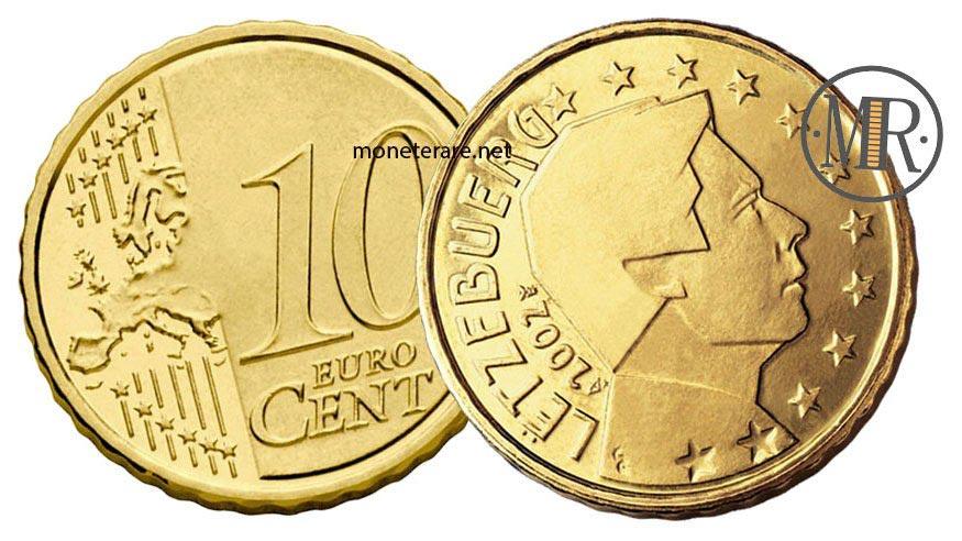 10 centesimi di euro del lussemburgo