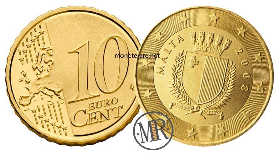 10 cents Malta Euro Coins