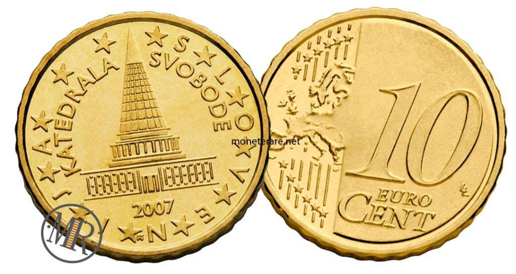 10 cents Slovenian euro coins