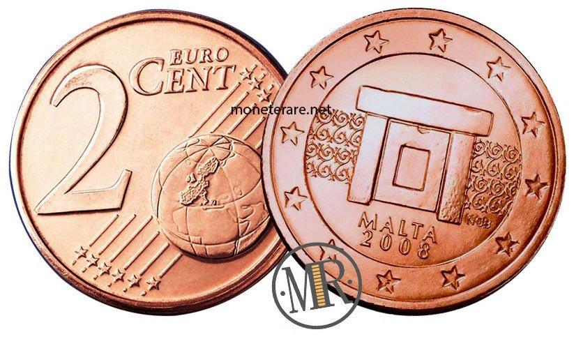 2 cents Malta Euro Coins