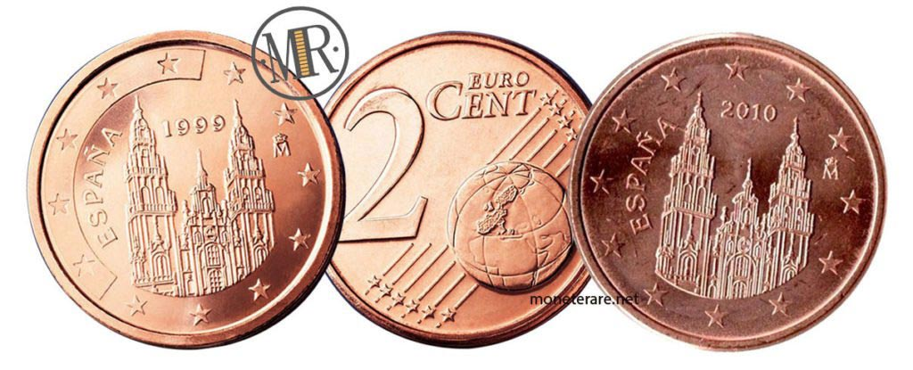 2 Cent Spanish Euro Coins