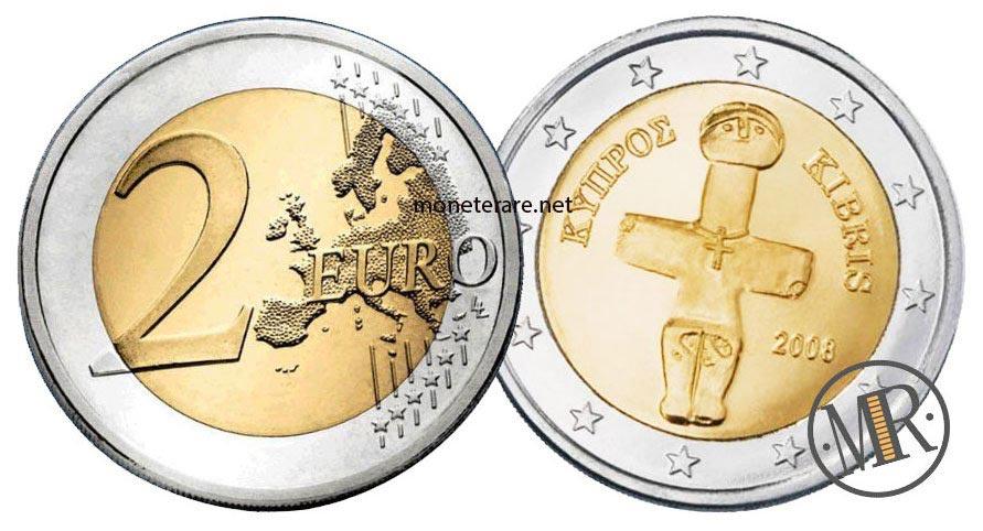 2 Euro Cipro con croce