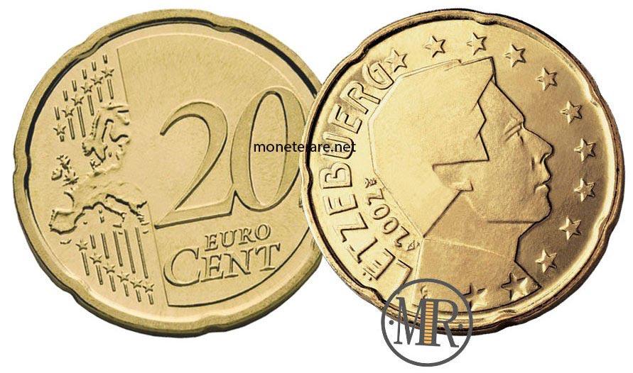 20 Centesimi Euro Lussemburgo