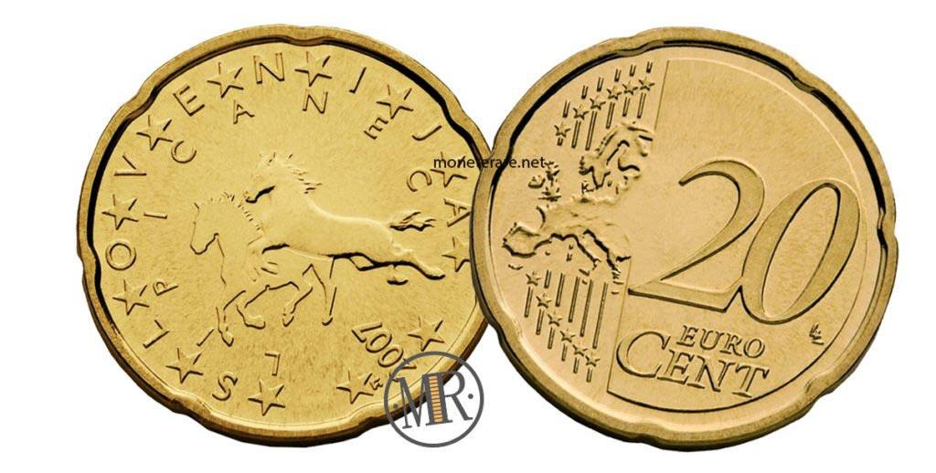 20 cents Slovenian Euro coins
