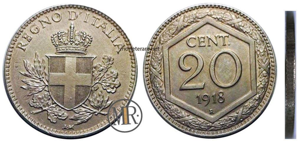 20 Centesimi Vittorio Emanuele III Esagono
