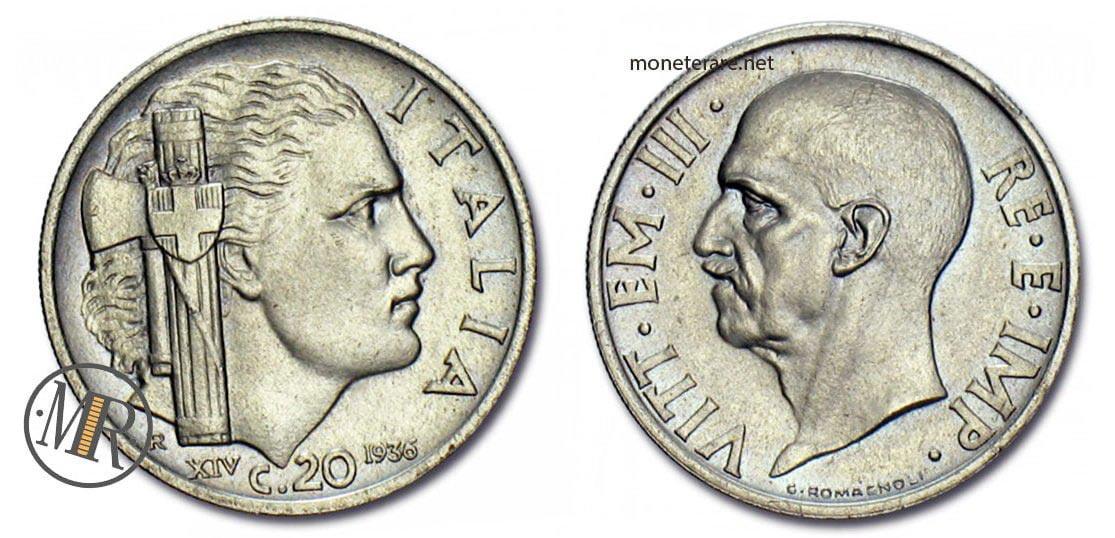20 centesimi 1936 impero