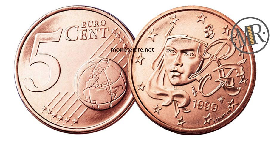 5 cents French Euro Coins