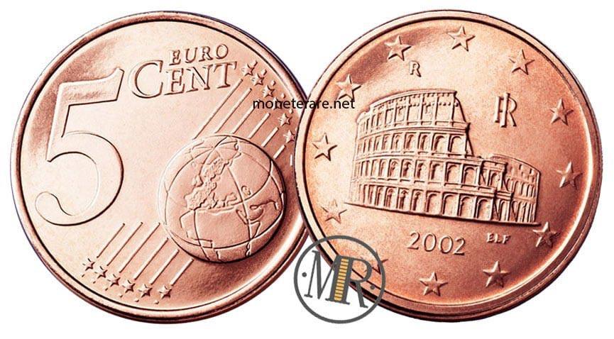 5 Centesimi Euro Italia con il Colosseo