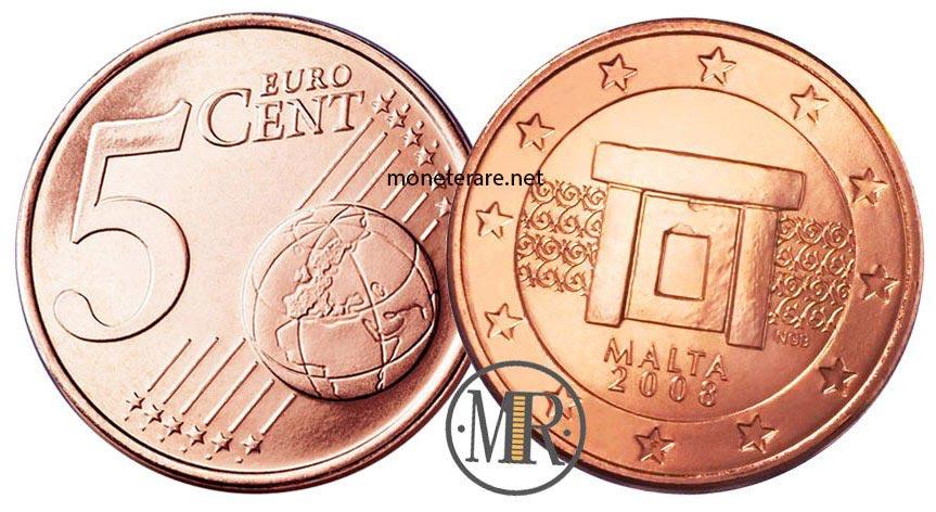 5 cents Malta Euro Coins