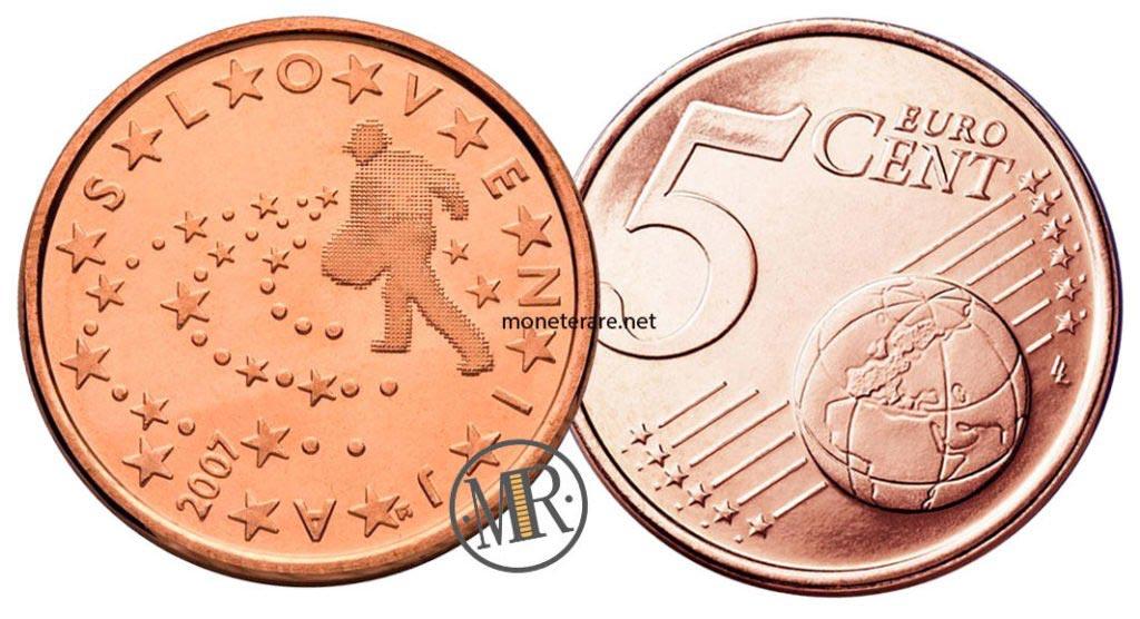 5 cents slovenian euro coins