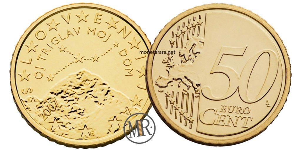 50 cents Slovenian Euro coins