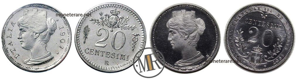 Progetti 20 Centesimi 1907