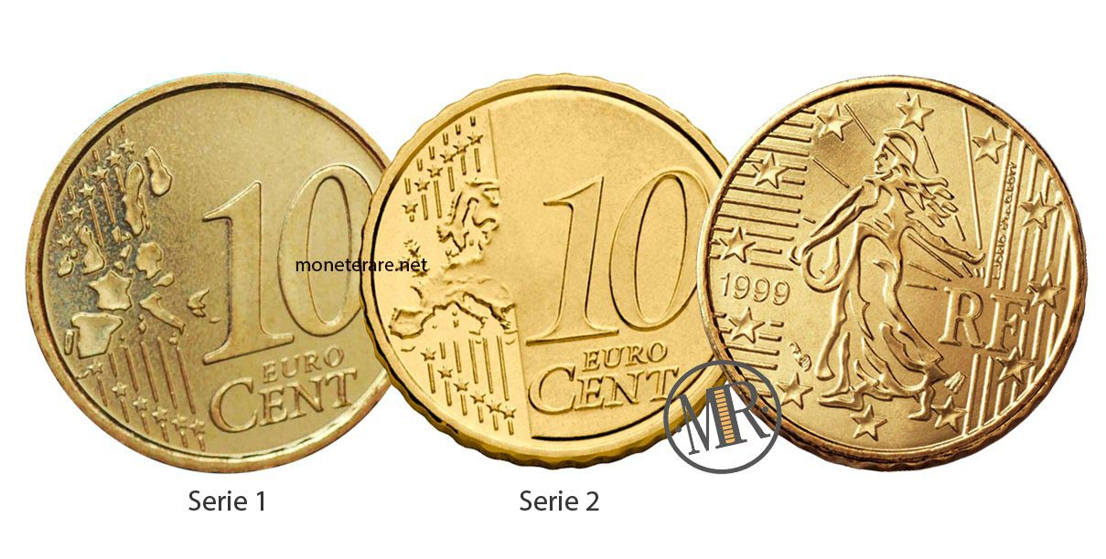 10 Centesimi Francia Prima e Seconda serie