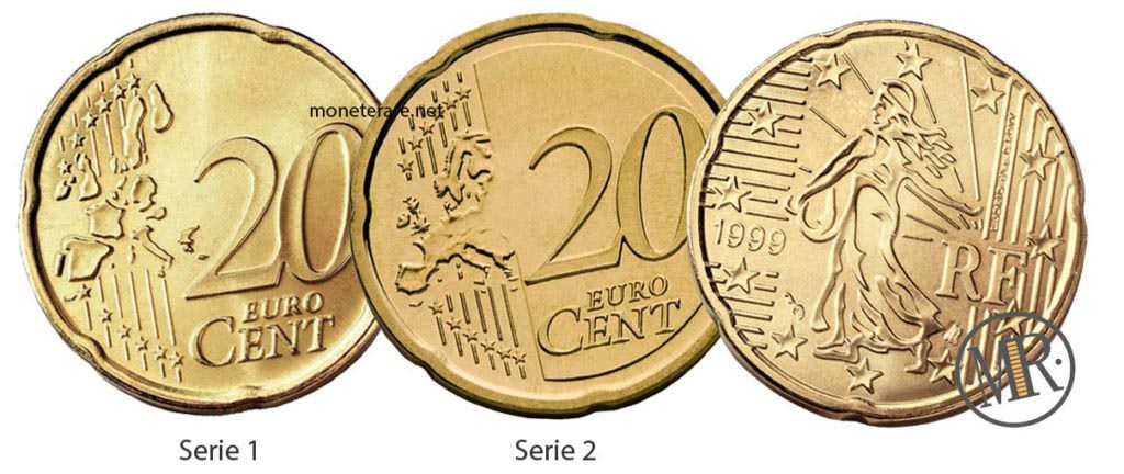 20 cents French Euro Coins