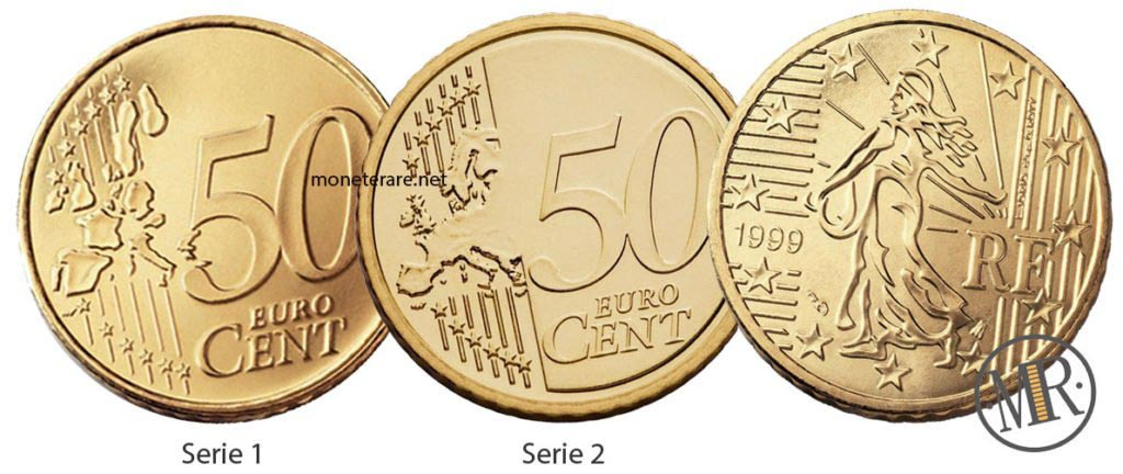 50 cents French Euro Coins