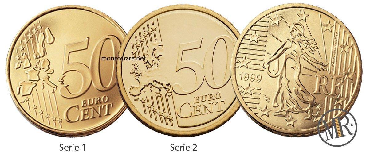 50 Centesimi Francia Prima e Seconda serie