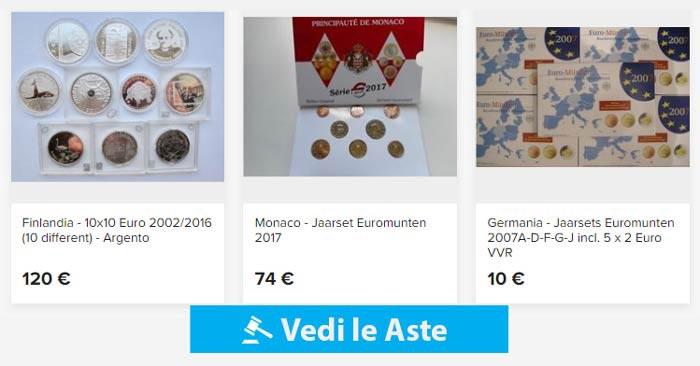 aste online di monete euro