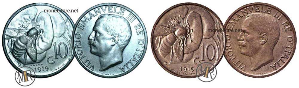 10 Centesimi Ape PROVA 1919