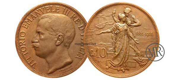 10 Centesimi Cinquantenario PROVA 1911