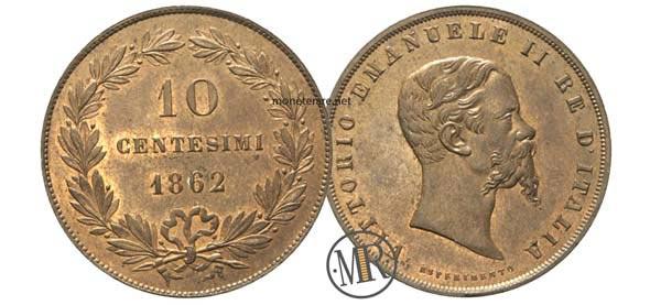 10 Centesimi rari Esperimento 1862