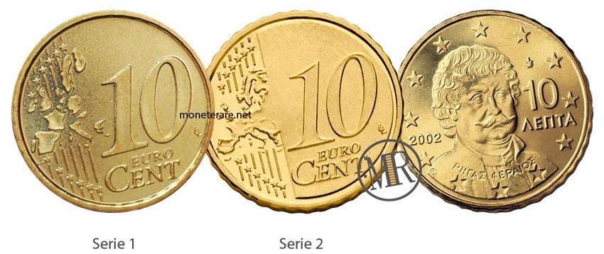 10 Cent Greek Euro Coins