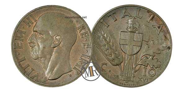 10 Centesimi Impero 2 Tipo Bronzo