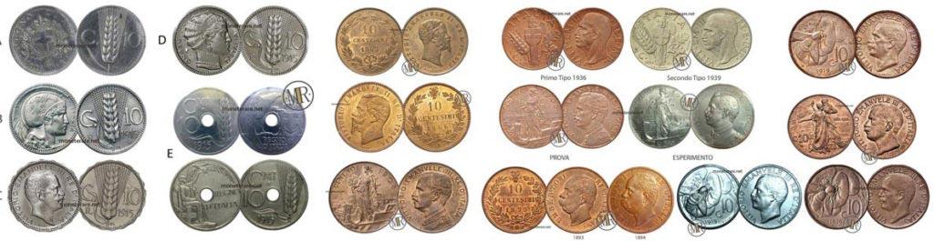 10 centesimi rari di lire