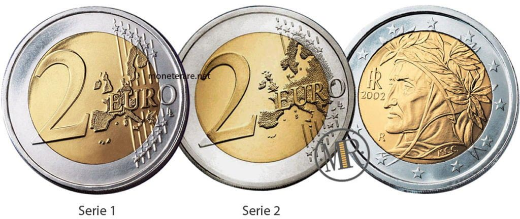 2 Euro Italia dante