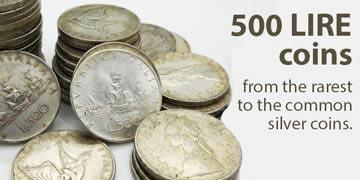 italian 500 lire silver coins
