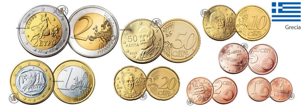 All the Greek Euro Coins