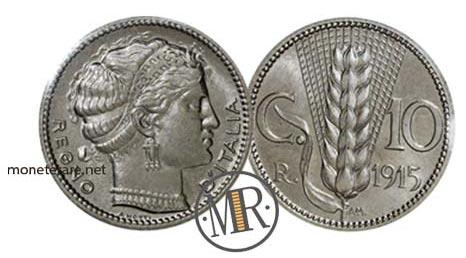 Progetto D per 10 Centesimi 1915