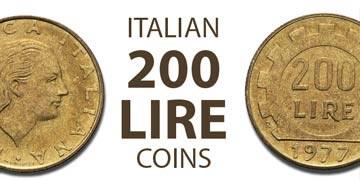 200 lire coins