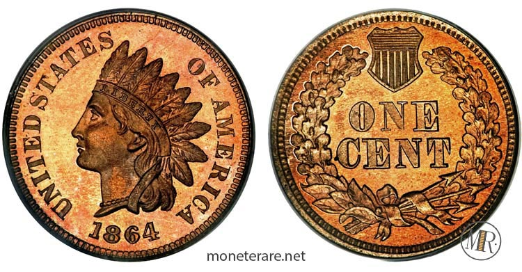monete-americane-rare-Centesimo-dollari-rari-1864-indian-Head-Penny-most-valuable-pennies