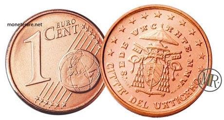 1 Cent Vatican Euro Coins Cardinal Camerlengo