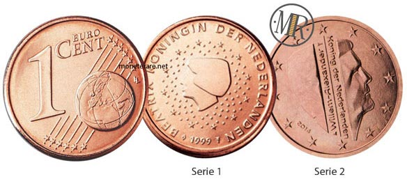 1 cent Netherlands Euro Coins