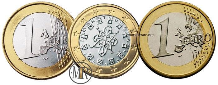 1 Euro Portugal Coins Portuguese euro coins