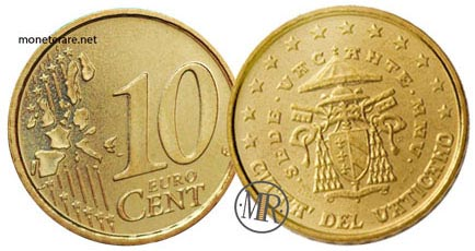 10 Cents Vatican Euro Coins Cardinal Camerlengo 2005