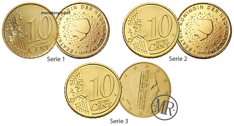 10 cent Netherlands Euro Coins
