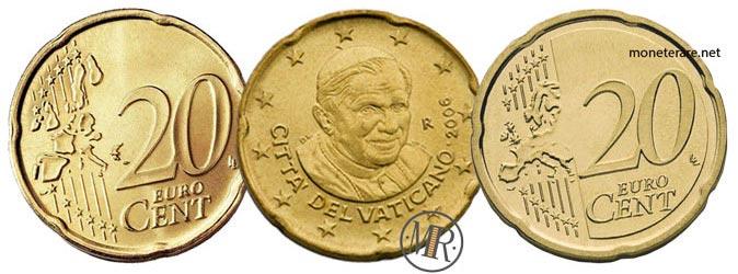 20 Cents Vatican Euro Coins Pope Benedict XVI 2006